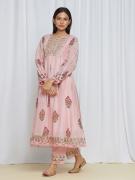 amisha kothari label utsav edit tarang kurta set rose pink