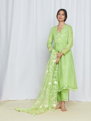 amisha kothari label dupatta bagh green