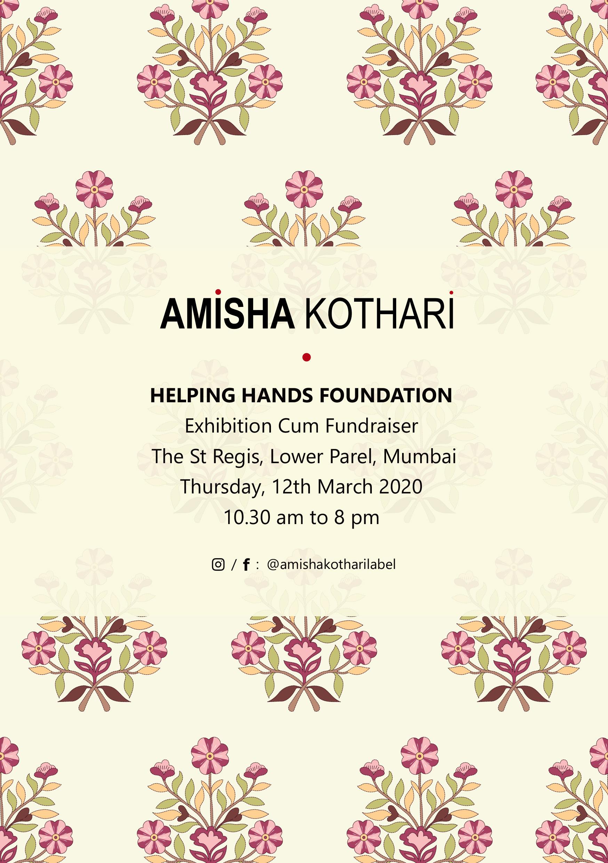 amisha kothari label helping hands mumbai