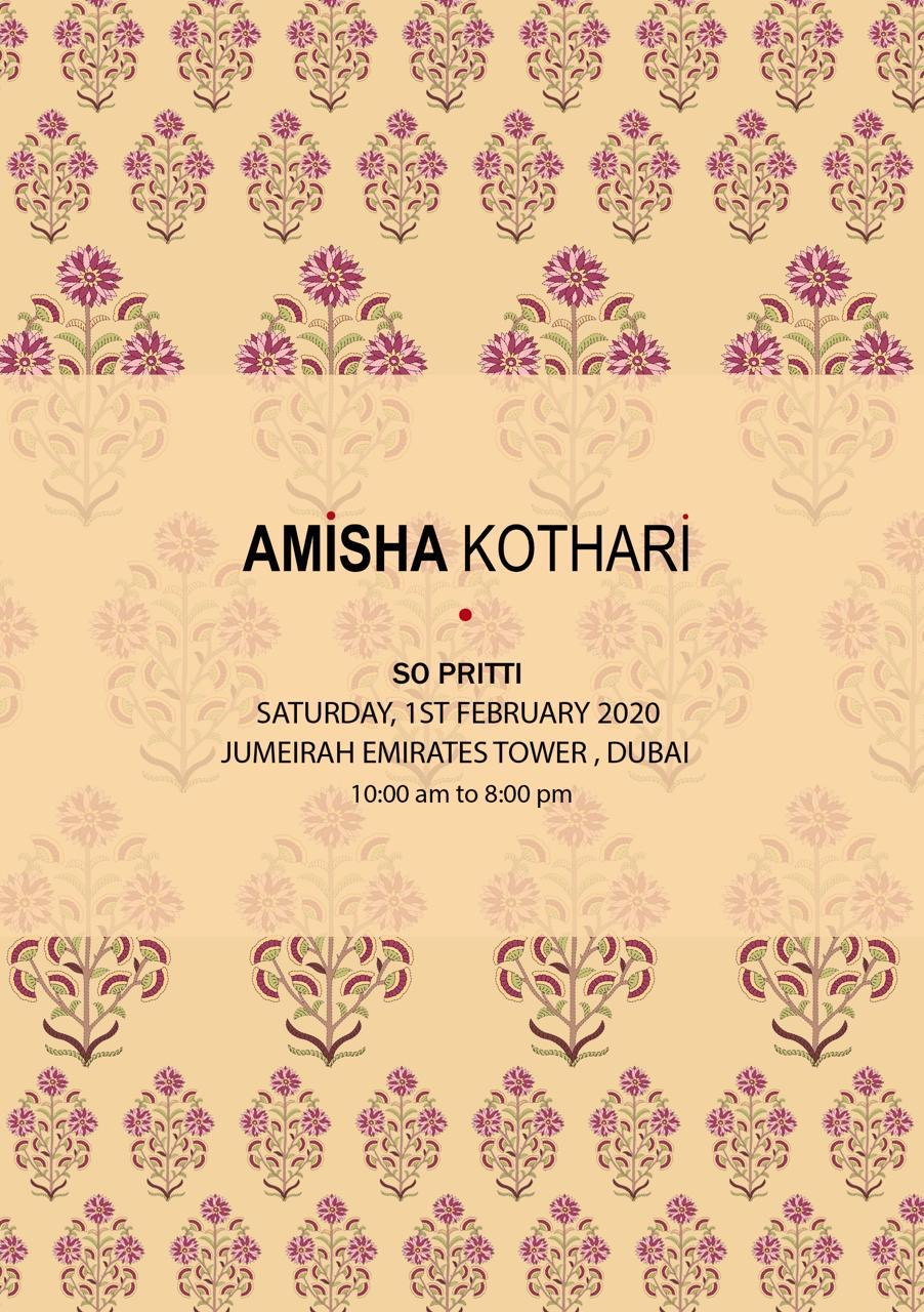 amisha kothari label so pritti dubai