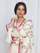 amisha kothari label kusum edit pushpaja kurta set ivory hot pink