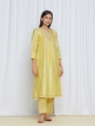 amisha kothari label utsav edit roohi kurta set yellow