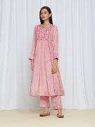 amisha kothari label utsav edit anandini kurta set peach