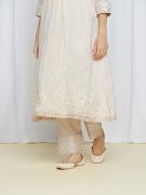 amisha kothari label shwet edit sitara kurta set ivory