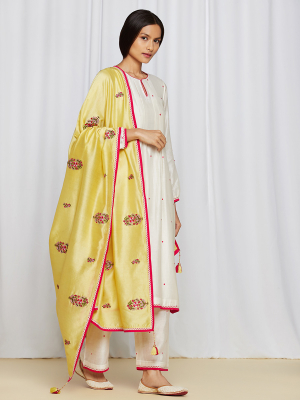amisha kothari label rozana edit ananya kurta set yellow