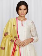 amisha kothari label rozana edit ananya kurta set yellow