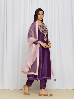 amisha kothari label utsav edit  amaira kurta set purple