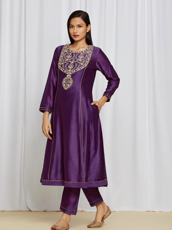 amisha kothari label utsav edit  amaira kurta set purple