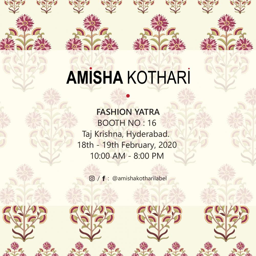 amisha kothari label fashion yatra hyderabad
