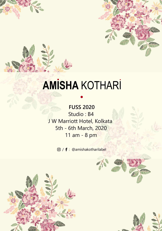 amisha kothari label fuss  kolkatta