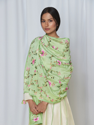 amisha kothari label kusum edit pushpaja ivory mint green