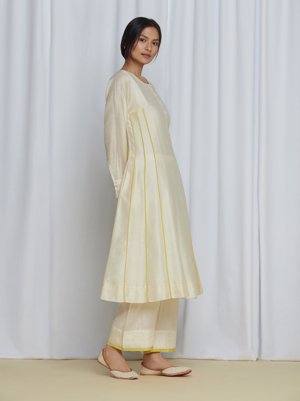 PushpajaKurtaSet Ivory/Yellow