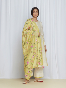 amisha kothari label kusum edit pushpaja kurta ivory yellow