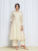 amisha kothari label kusum edit pushpaja kurta ivory rose pink