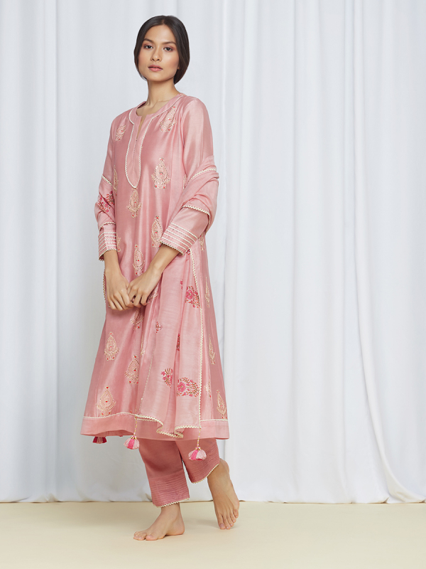 RozanaKurtaSet Pink