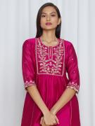 amisha kothari label utsav edit amira kurta set hot pink