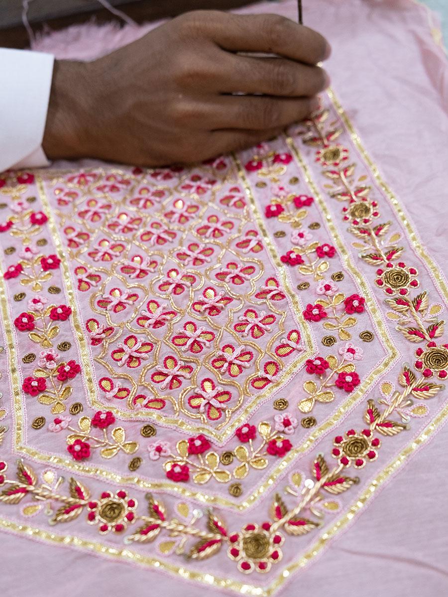 amisha kothari label backstage hand embroidery