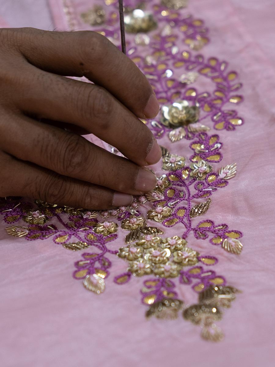 amisha kothari label backstage hand made embroidery