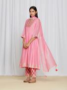 amisha kothari label utsav edit pink miraya kurta set