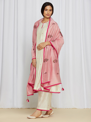 AnanyaKurtaSet Ivory/Pink
