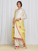 AnanyaKurtaSet Ivory/Yellow