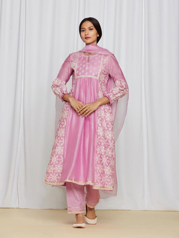 AsmaKurtaSet Pink