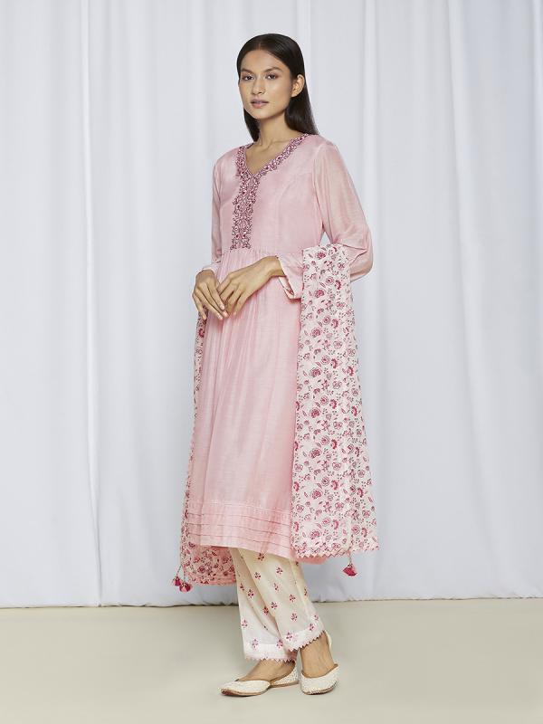 Pink Kurta Set For Women Online
