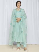 Blue party wear kurta set