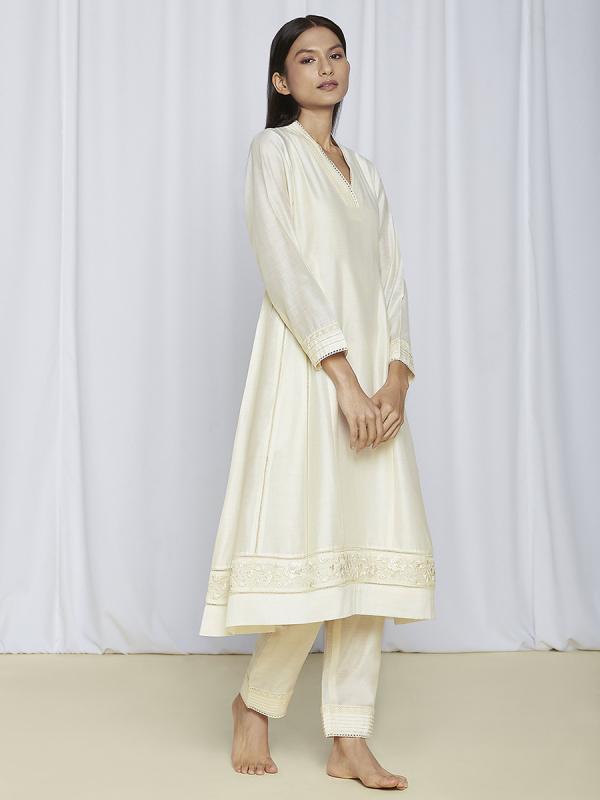 Ivory Designer Kurta Set