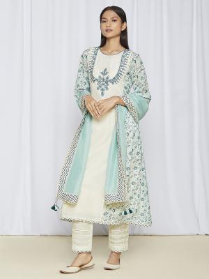 Blue Kurta Sets With Dupatta Online
